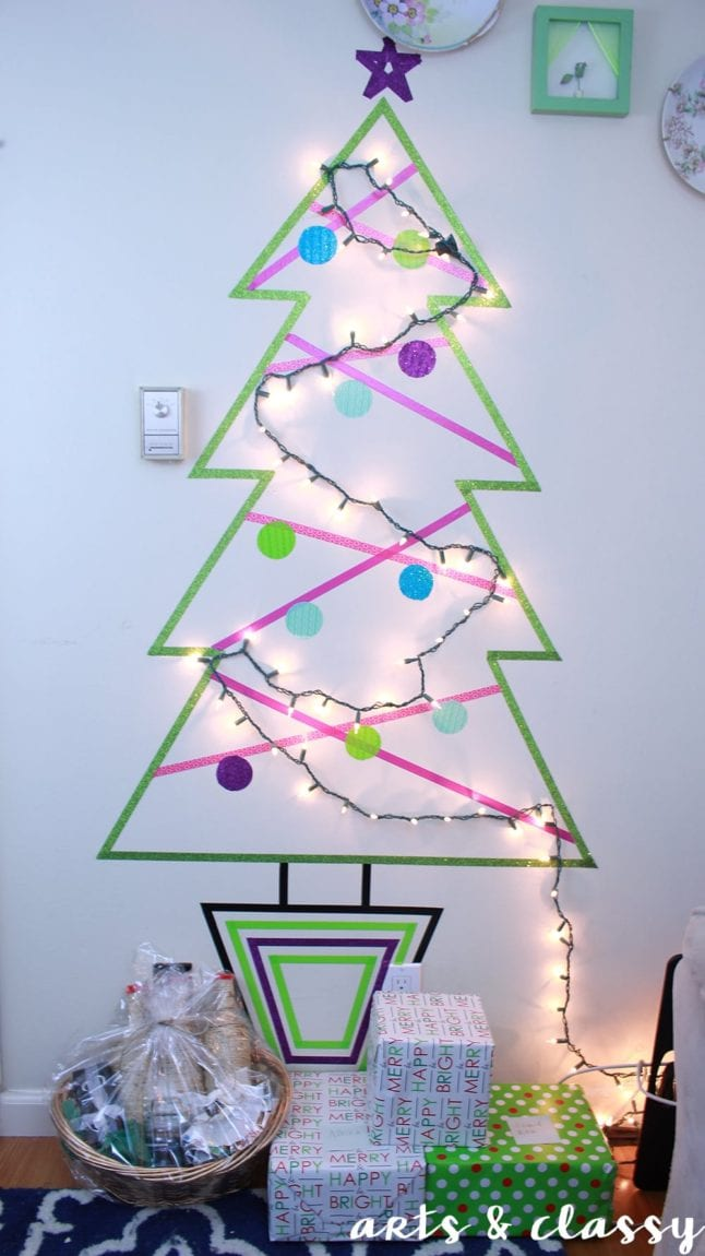 13 Creative ways to build a Christmas tree in small apartments