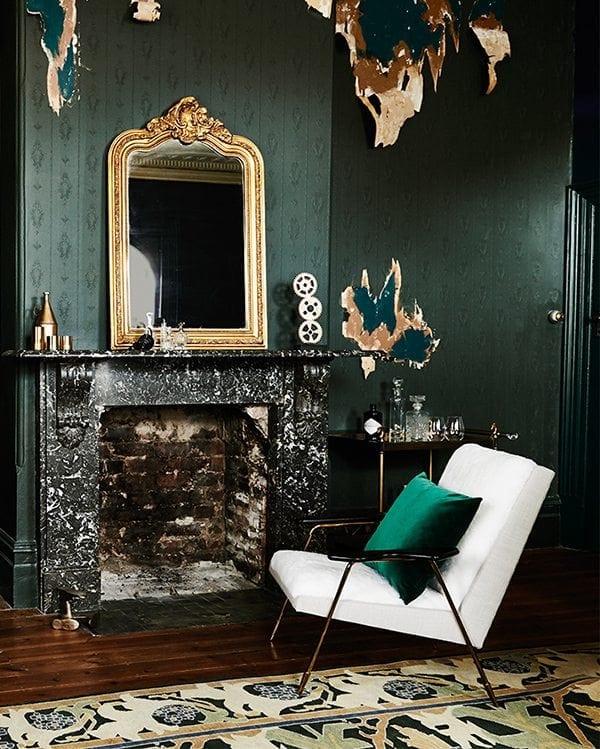 Inspirations Ideas Interior Design Trends Metallic: Emerald Green Interior Decor Trends + Inspiration