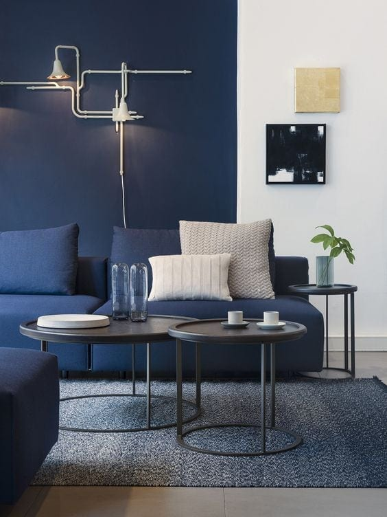 Navy Blue Interior Decor Trends Inspiration Arts And