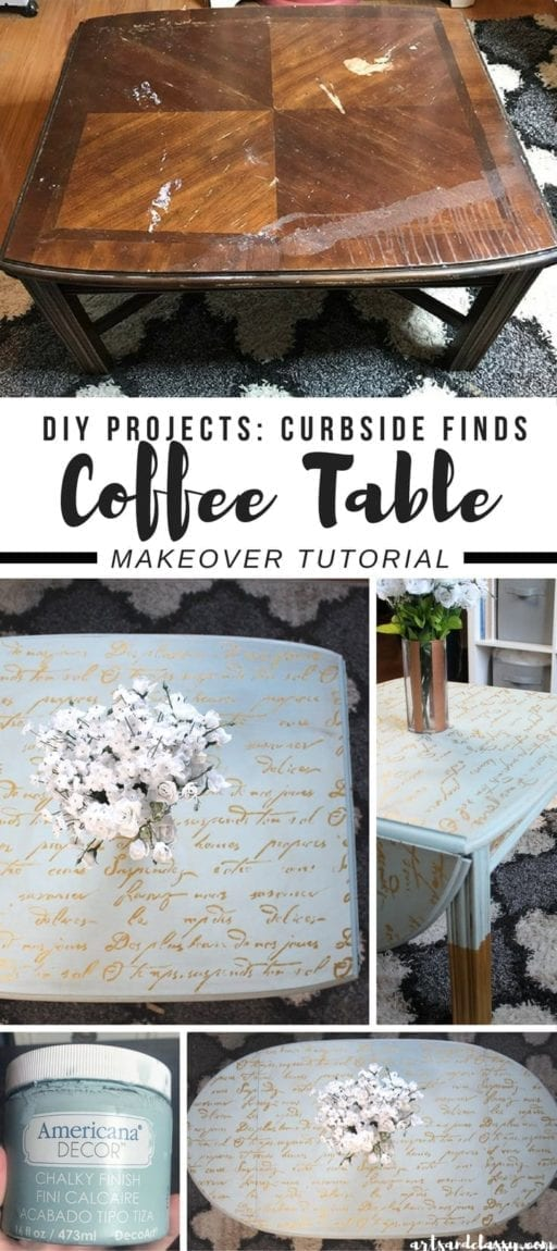 diy projects : coffee table furniture flip makeover tutorial