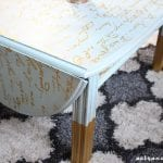 Vintage Drop Leaf Coffee Table Makeover