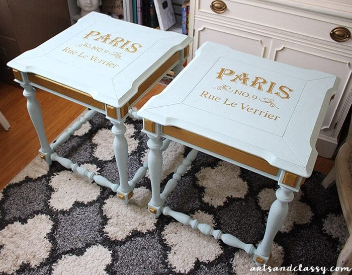 DIY Projects - End Tables Get a French Twist Makeover Tutorial