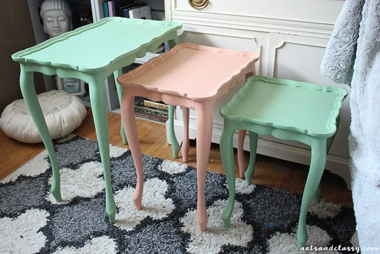 DIY Projects : Nesting Tables Makeover + Tutorial