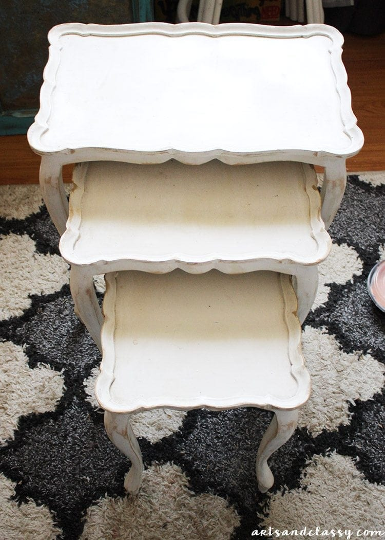 Diy Projects Nesting Tables Makeover Tutorial Arts
