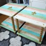DIY Projects - UGLY End Tables Get a Chic Makeover + Tutorial