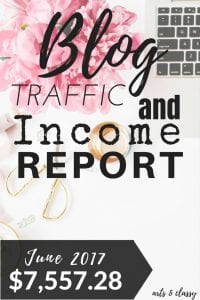 Blog Traffic and Income Report - How I made $7,557.28 in June