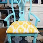 Coastal Shabby Chic Wood Chair Furniture Makeover
