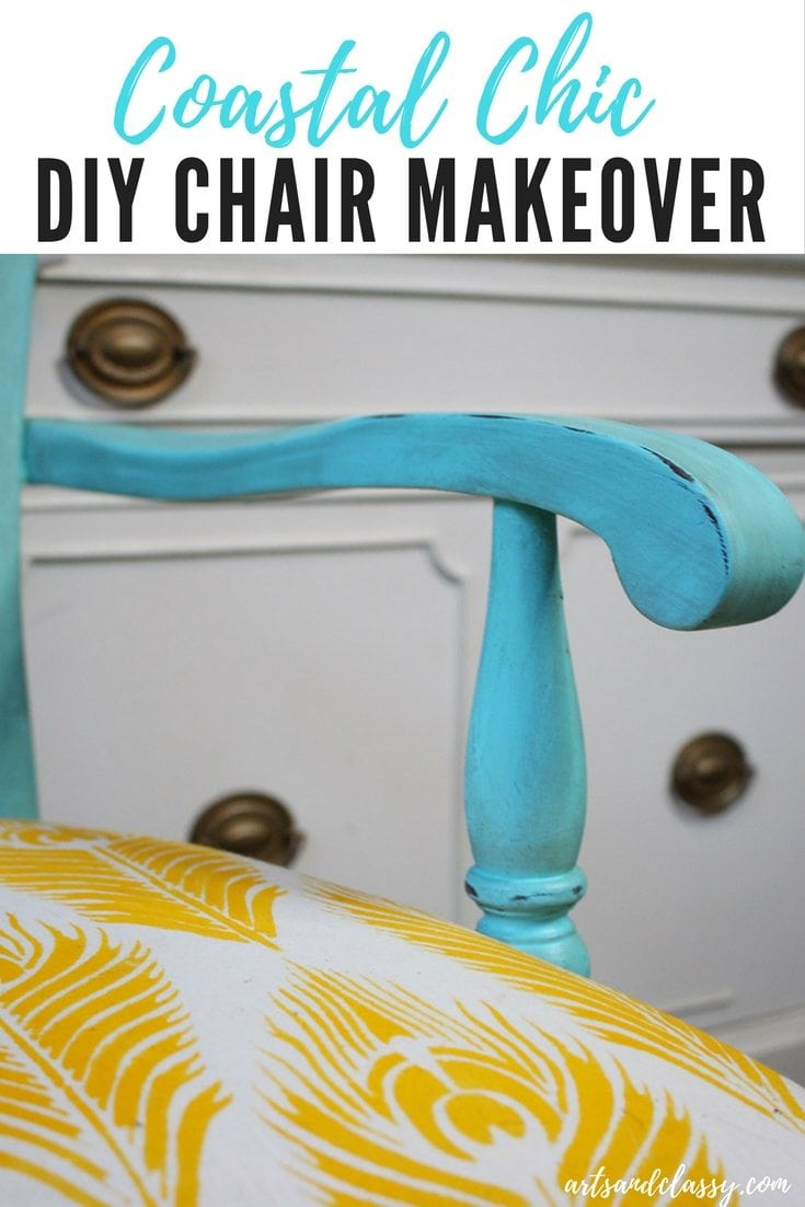 Coastal Shabby Chic Wood Chair Furniture Makeover Arts And Classy