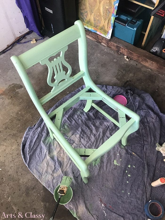 Lyre Back Chair Makeover