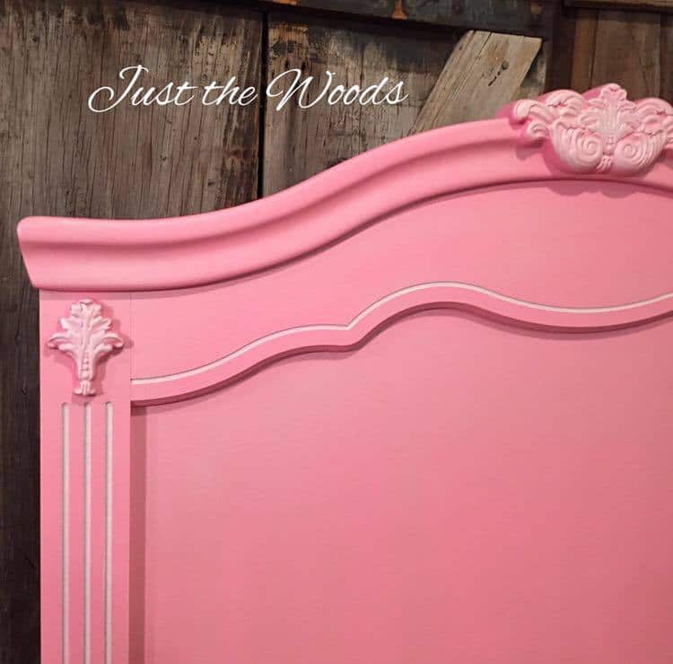 painted pink headboard makeover