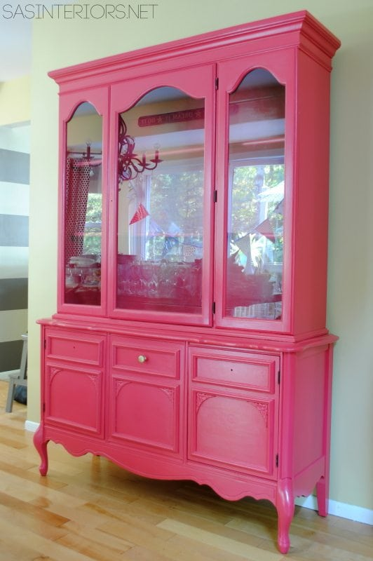 painted pink hutch