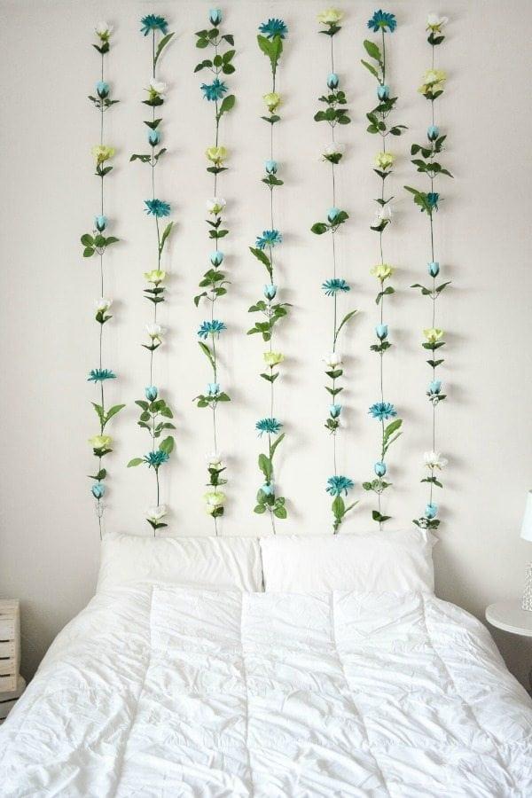 DIY floral headboard