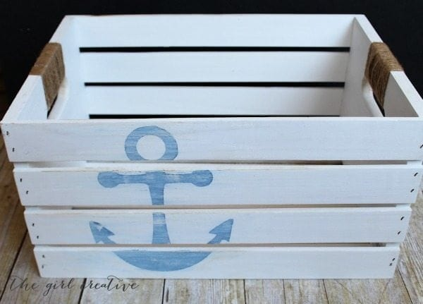 nautical storage crate - Check out these 15 Nautical Furniture Flips - DIY furniture inspiration with coastal flair. How to paint furniture for nautical and coastal home decor.