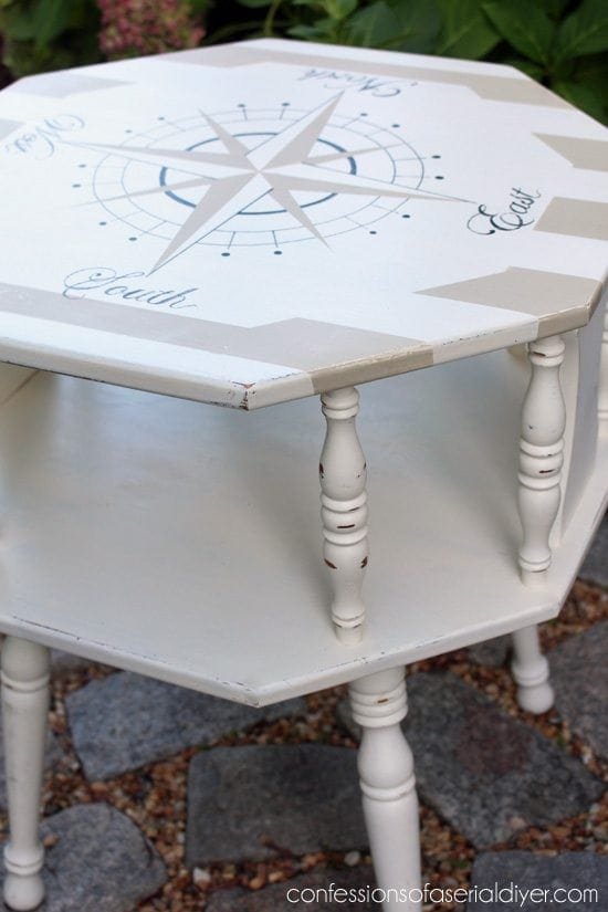 nautical painted coffee table - Check out these 15 Nautical Furniture Flips - DIY furniture inspiration with coastal flair. How to paint furniture for nautical and coastal home decor.