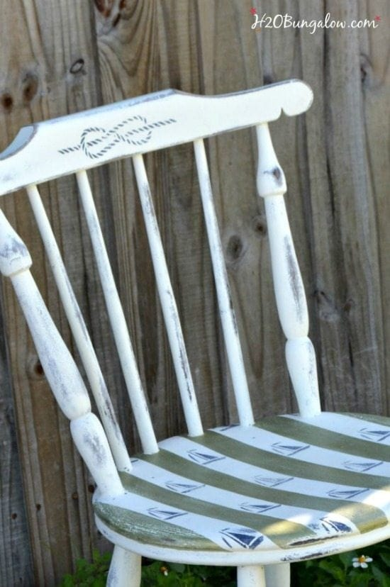 nautical painted chair - Check out these 15 Nautical Furniture Flips - DIY furniture inspiration with coastal flair. How to paint furniture for nautical and coastal home decor.