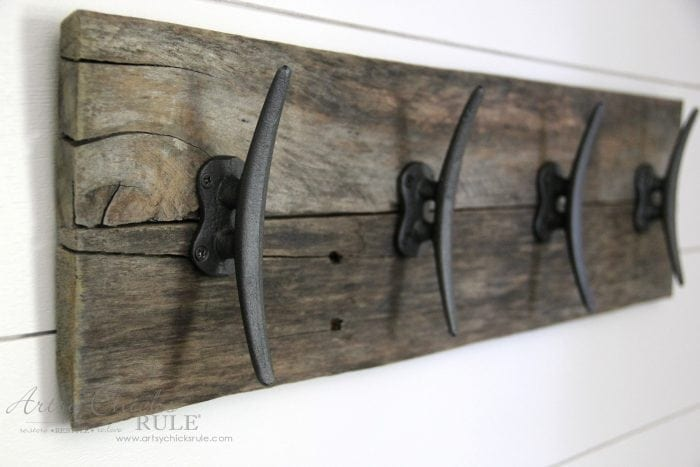 nautical coat hooks - Check out these 15 Nautical Furniture Flips - DIY furniture inspiration with coastal flair. How to paint furniture for nautical and coastal home decor.