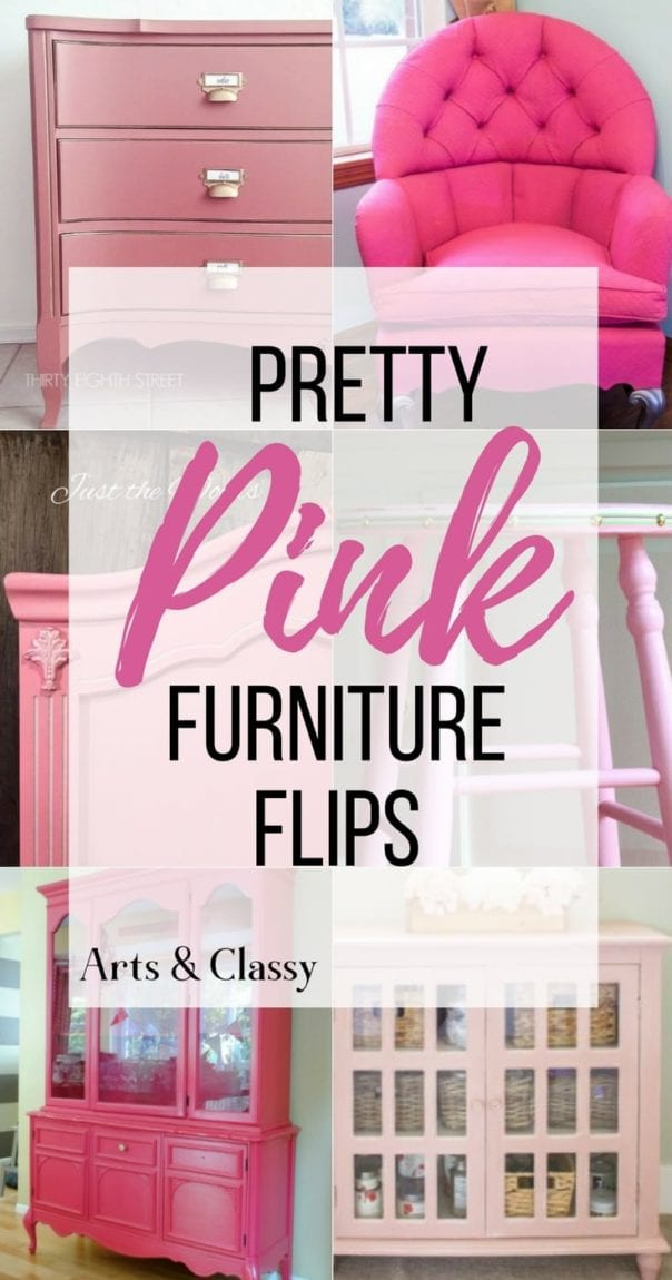 Pink may seem like an unexpected color choice, but these pink furniture flips are gorgeous. Check out DIY painted pink furniture makeovers with all shades and pink color palettes | Pink painted furniture.