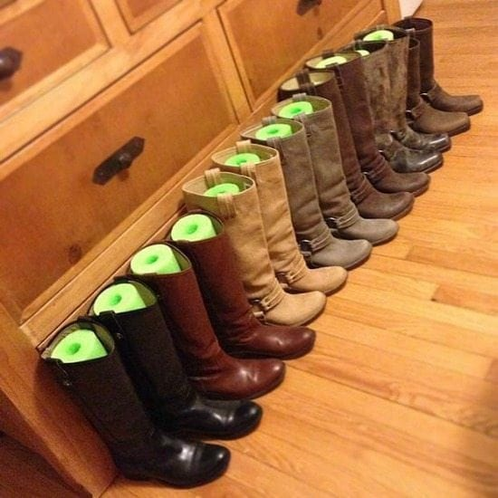 Keep Your Clothes And Accessories In Line With These Bedroom Closet Storage  Hacks. Iu0027 Make Your Own Boot Inserts ...