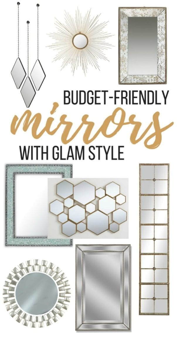 You'll love these gorgeous finds! These are my favorite glam mirrors for your home. | Simple Modern and Glamorous Mirrors and Wall Decor on a Budget!