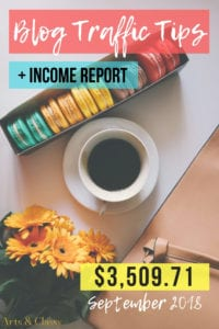Blog Traffic Tips + Income Report - September 2018