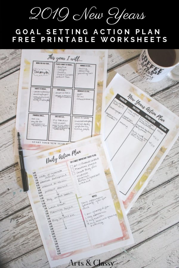 3 new years goal setting tips for 2019 free printable worksheets